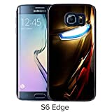 Durable and Fashionable Case Design with Iron man 5 Samsung Galaxy S6 Edge Black Phone Case