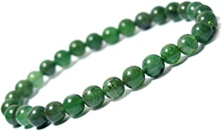 Reiki Crystal Products Green Jade Bracelet 6 mm Round Bead Reiki Healing Crystal Bracelet for Unisex (Color : Green)