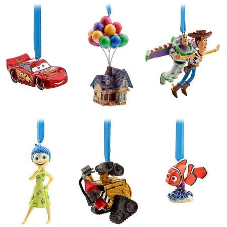 - 2017 Disney Pixar Limited Edition - 30th Anniversary Sketchbook Christmas Ornament Set