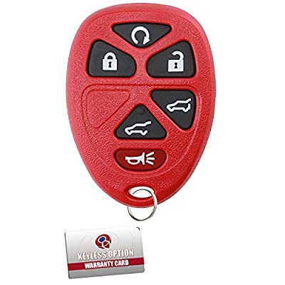 KeylessOption Keyless Entry Remote Control Car Key Fob Replacement for 15913427 -Red: Automotive