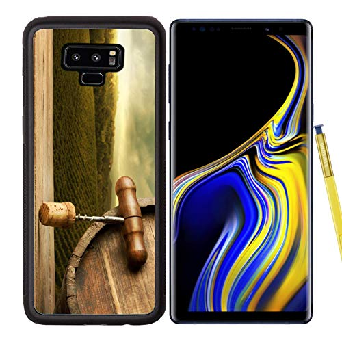Samsung Galaxy Note9 Case Aluminum Backplate Bumper Snap Case Image ID: 27916118 Wooden and Corkscrew Close up with Vineyards and Rural Landscape on