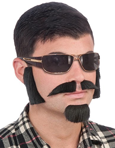 Fake Beard Kit (Forum Novelties Men's Facial Hair Disguise Kit, Brown, One Size)