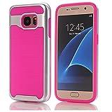 Galaxy S7 edge Case - A-store Hard Bumper Hybrid Soft Rubber Skin Case Cover For Samsung Galaxy S7 edge