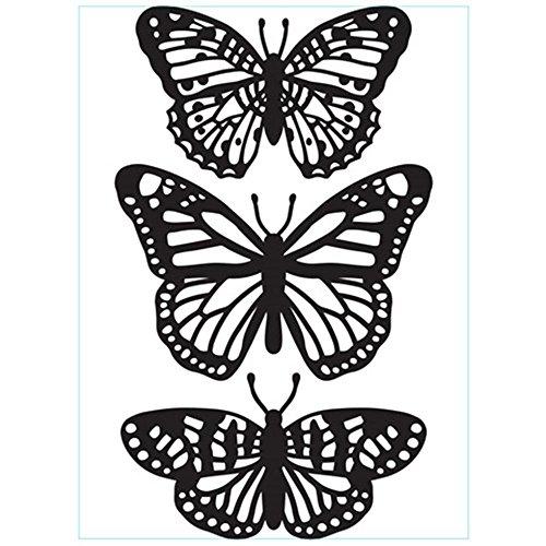 Butterfly Art Trio (DARICE 1219-405 Emboss Folder Butterfly Trio, Multicolor)