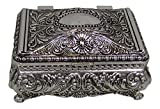 Ornate Antique Finish Rectangular Trinket Jewelry Box - 3.5'' x 2.25''