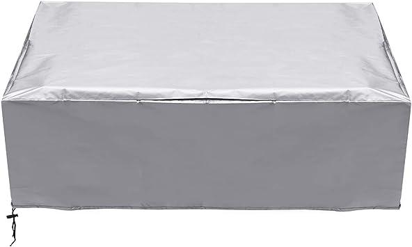 Janolia Hot Tub Cover Housse Spa Cover Anti UV, Anti poussière, Imperméable, Extérieur pour Protection Hot Tub, Silver, 231cm×90cm