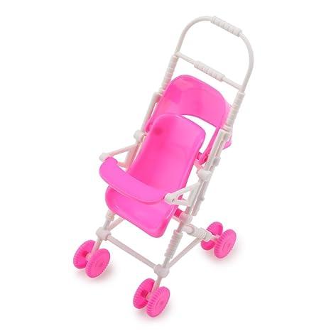 Cochecito de bebé cochecito carrito muñeca bricolaje montar juguete para Barbie
