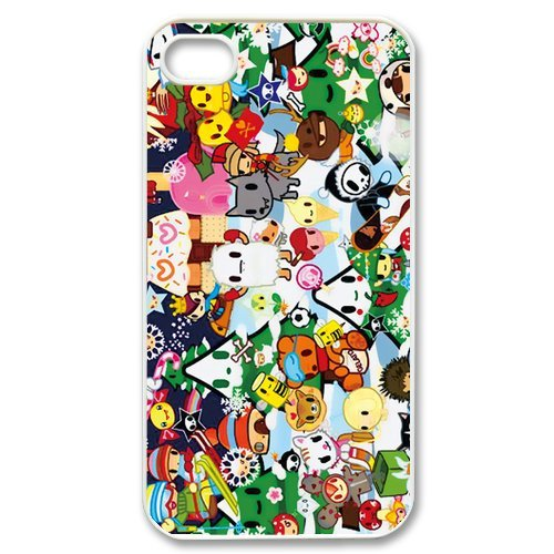Fayruz- Tokidoki Protective Hard TPU Rubber Cover Case for iPhone 4 / 4S Phone Cases A-i4K150