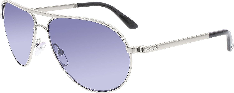 2f8bc37e59e Amazon.com  Tom Ford TF144 18V Silver Marko Pilot Sunglasses Lens Category  1 Size 58mm  Tom Ford  Clothing
