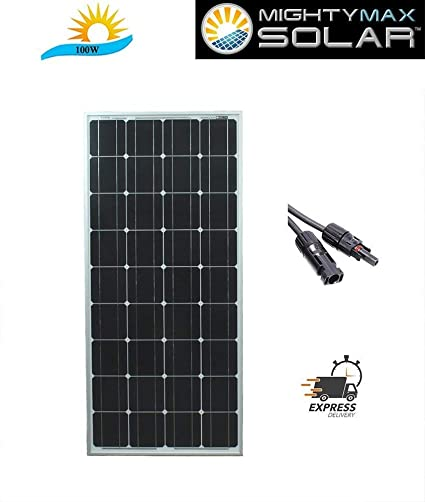 Amazon.com: 100 W Panel Solar monocristalino – Mighty Max ...