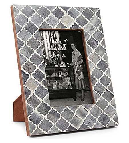 Picture Frame Photo Frame Moorish Damask Moroccan Arts Inspired Handmade Naturals Bone Frames Size 4x6 & 5x7 Inches (4X6, - Frames Macys