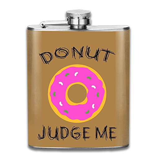 Liangrong Hui Doughnut Outdoor Portable Stainless Steel Flagon Hip Flask (Cheap Personalised Shot Glasses)