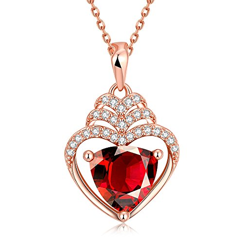 [SDLM Excellent Clear Crystal Inside Mother's Day Gift Love Heart Pendant Necklace(r)] (Homemade Character Costumes Ideas)