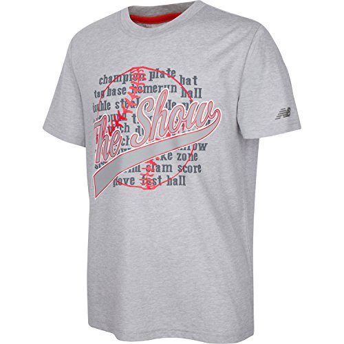 New Balance Big Boys Short Sleeve Athletic Graphic T-shirt Light Grey Heather