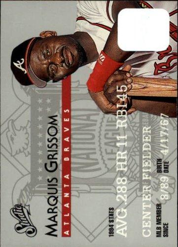 (1995 Donruss Studio Baseball Card #34 Marquis Grissom)