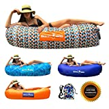Inflatable Lounger Boha Bag Air Sofa Lounge Hammock and Pool Float, Perfect for Hiking Camping Beach Hangout Music Festivals Pool Parties, The Most Comfortable Air Lounger! (Funky Plaid)