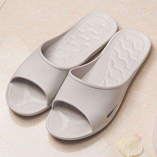 YMFIE Zapatillas para mujer con suela de espuma suave, zapatos de piscina y zapatos de baño gris