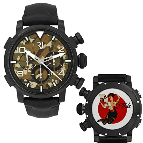 Romain Jerome Pinup DNA WWII Mila Fan Chrono Auto Men Watch RJ.P.CH.002.01