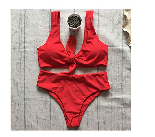 2c9168f8e3f23 Dmoshibei Hot Bikini Chest Knotted Swimwear Women Swimsuit High Waist  Bathing Suits Push Up Brazilia Swim