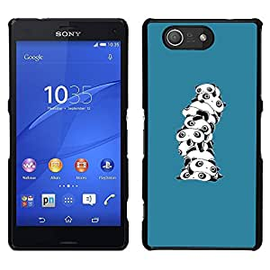Impact Case Cover with Art Pattern Designs FOR Sony Xperia Z3 Compact Cute Cartoon Panda White Betty shop