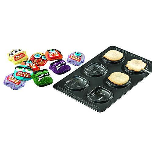 Sweet Creations 04858 6-Cup Non-Stick Monster Cake Pop Pan, Gray for $<!--$10.00-->