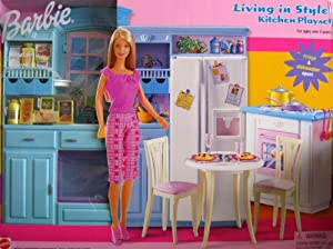 barbie living in style kitchen playset