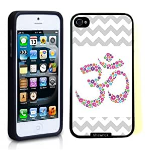 Iphone 5 5S Case Thinshell Case Protective Iphone 5 5S Case Shawnex Grey Floral Ohm Yoga