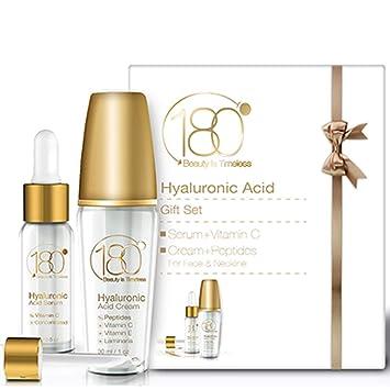 Amazon.com: Kit de crema y suero facial de ácido hialurónico ...
