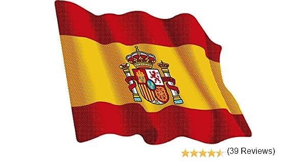 Artimagen Pegatina Bandera Ondeante España 80x60 mm.: Amazon.es ...
