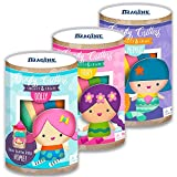 Doll Making Kit for Kids -- Set of 3 DIY Sew-Your-Own Dolls (Childrens Sewing Projects) (Mermaid, Fairy, Dolly)