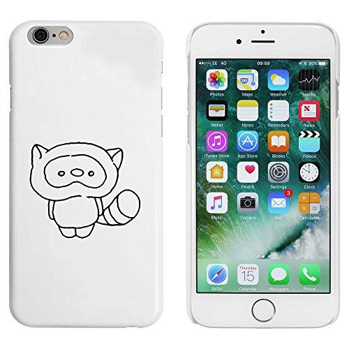 Weiß 'Netter Waschbär' Hülle für iPhone 6 u. 6s (MC00051606)