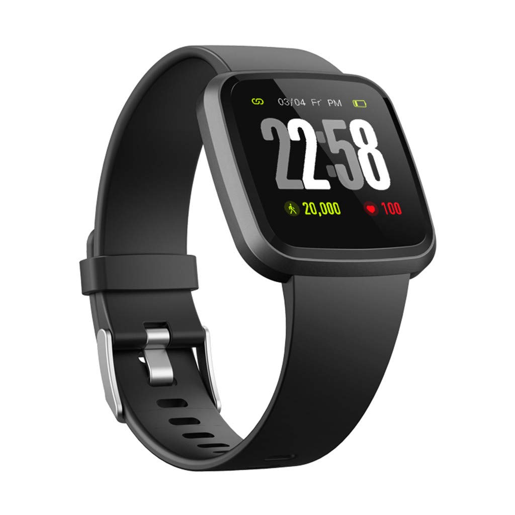 V12C Fitness Tracker, Activity Tracker Watch with Heart Rate Monitor, Smart Fitness Band with Step Counter, Pedometer Watch for Kids Women and Men (Black) by Besde Other (Image #5)