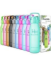 HoneyHolly Sports Trinkflasche Wasserflasche - 32oz/1L & 50oz/1.5L Top klick Open, Non Toxic BPA Free & Eco-Friendly Tritan, Für Sport im Freien/Outdoor Fitness Training