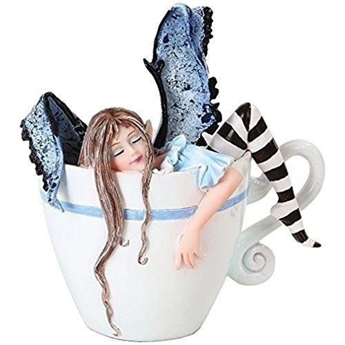 Ky & Co YesKela I Need Coffee Fairy Figure - Mythical Creature Fae Figurine Amy Brown -