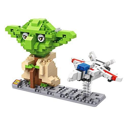 LOZ Diamond Star Wars Yoda and Fighter Nano-Block - 2 in Pack
