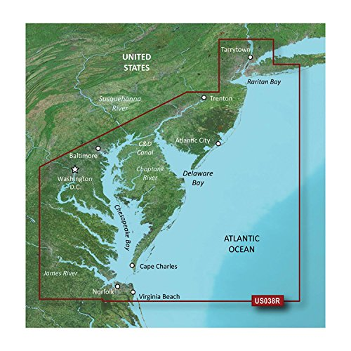 Garmin Bluechart G2 VUS038R New York To Chesapeake Vision MicroSD Card Maps electronic consumers
