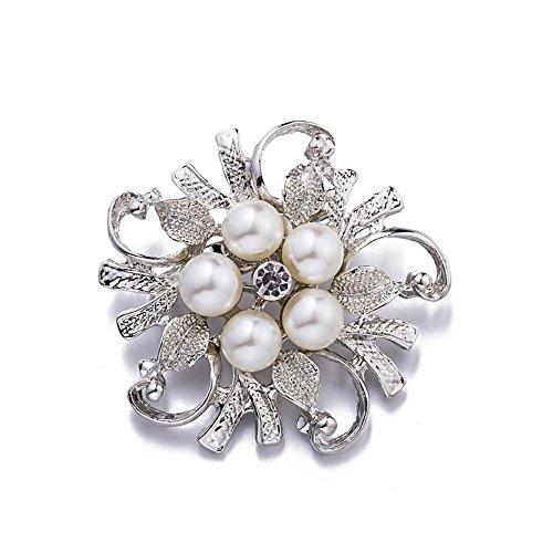 Daeou Alloy Diamond pearl Brooch female PIN Ornament