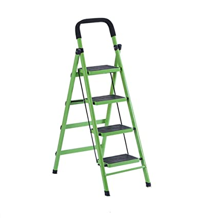 LFF  Household Iron Folding Portable Multifunction Ladder 3 4 Step Ladder  Thick Indoor Non