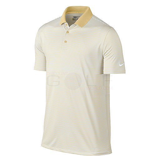 Nike Victory Mini Stripe Men's Golf Polo (Team Gold/White, Small)