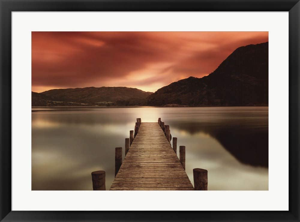 Amazon Com Ullswater By Mel Allen Framed Art Print Wall Picture Black Frame 33 X 25 Inches Posters Prints