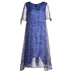 DRESS Vestido de Las Mujeres de Moda de Verano Elegante Falda Midi ...