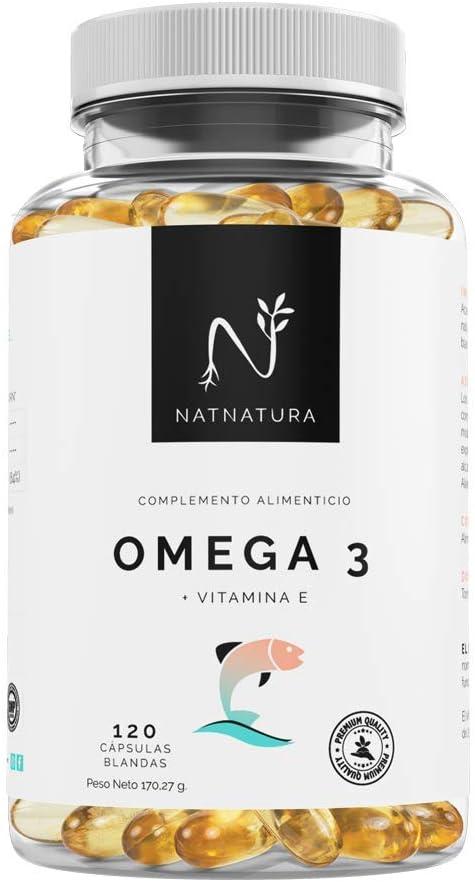 Omega 3+Vitamina E. Alta dosis de ácidos grasos Omega 3, 2000mg.Alta concentración de EPA–DHA.Efecto antiinflamatorio y antioxidante. Complemento alimenticio a base de aceite de pescado. 120 cápsulas.: Amazon.es: Salud y cuidado personal