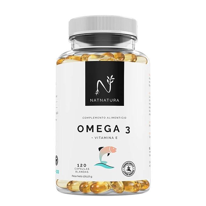 Omega 3+Vitamina E. Alta dosis de ácidos grasos Omega 3, 2000mg ...