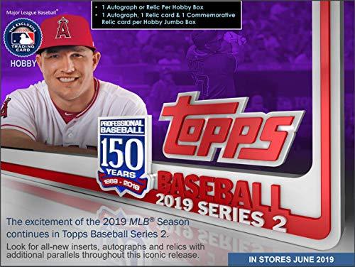 2019 Topps Series 2 Baseball Hobby HTA Jumbo 6 Box CASE +12 Silver Packs - Sealed Case 2 Series Factory