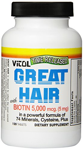 Vitol Great Hair, 120 Tabs (5mg) ()