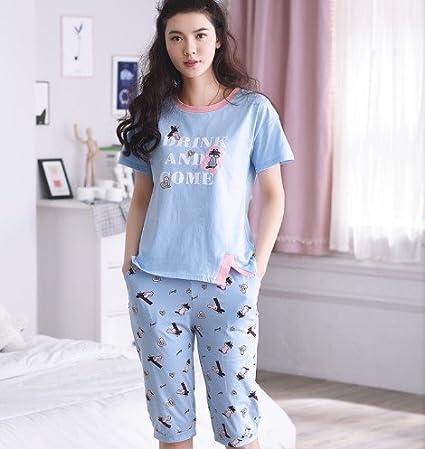 MH-RITA La mujer pijama pijama de manga corta de verano conjunto de ropa de