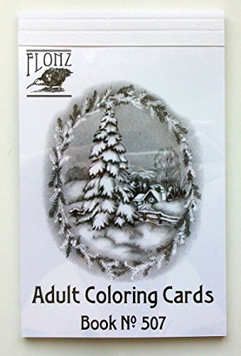 Adult Coloring Grayscale Cards (24 cards 4
