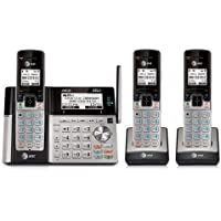AT&T TL96273 DECT 6.0 Expandable Cordless Phone with Bluetooth Connect to Cell, Answering System (3 Handsets)