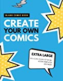 Blank Comic Book: Create Your Own Comics: Extra Large, 220 Pages, Action Templates (Blank Comic Book for Kids) (Volume 8)