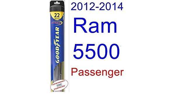 Ram 5500 - Juego de escobillas limpiaparabrisas de repuesto para 2012 - 2014 (limpiaparabrisas Goodyear - Híbrido) (2013): Amazon.es: Coche y moto